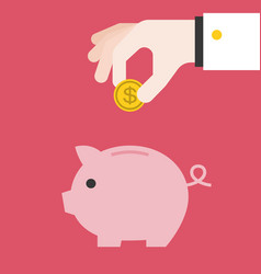 Save money piggy bank vector