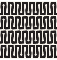 Seamless Black and White Wavy Lines Pattern vector