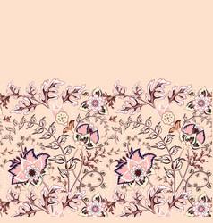 seamless floral banner frame border vector image