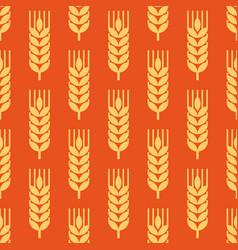 Seamless wheat ear background vector