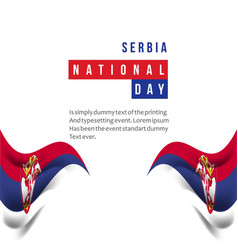 Serbia national day template design vector