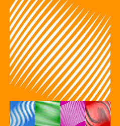 set of colorful backgrounds with white stripes vector image