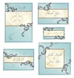 set of rococo wedding designs vector image