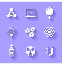 Set of white physics icons vector image