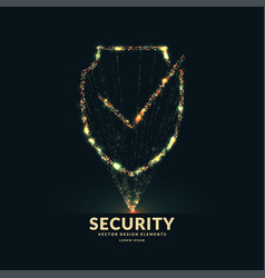 Shield a symbol security and reliability vector