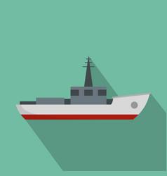 ship fishing icon flat style vector image