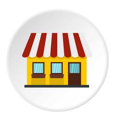 Shop icon circle vector