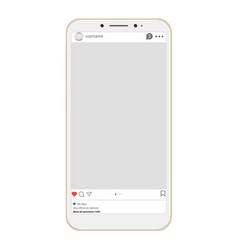 Social page profile web interface vector