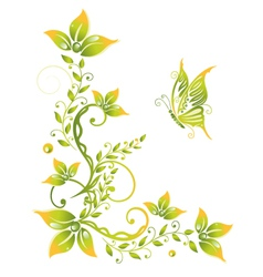 Spring time flowers vector