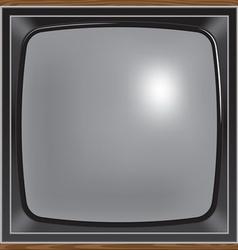 Square screen retro tv vector