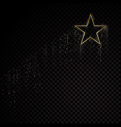star sparkle golden frame isolated on black vector image