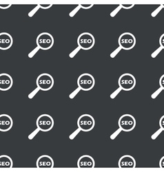 Straight black SEO search pattern vector