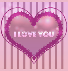 Template for valentines day cardinvitation vector