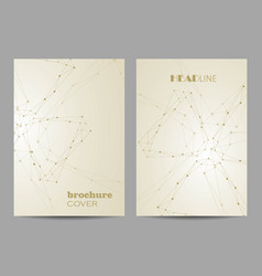 Templates for brochure cover in a4 size vector