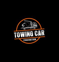 Towing car evacuation logo design vector