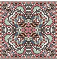 Traditional ornamental floral paisley bandanna vector image