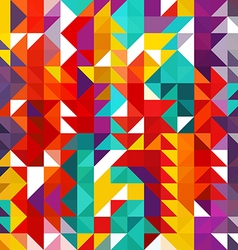 Triangle geometric shapes Seamless Pattern vector image