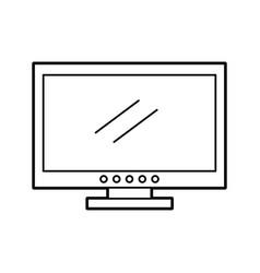 Tv plasma isolated icon vector