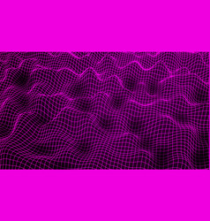 wireframe abstract wave vector image