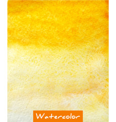 yellow abstract watercolor hand draw background vector image