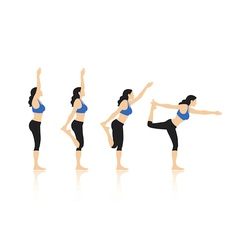 Yoga Poses vector image