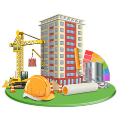 Living Block Construction vector image vector image