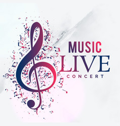 music live concert poster flyer template design vector image vector image