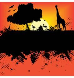 wildlife safari design vector image