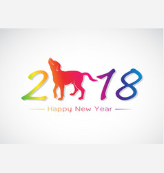 labrador dog 2018 new year card vector image vector image