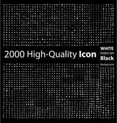 Set of 2000 Quality icon vector image