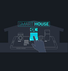 smart house technology concept vector image