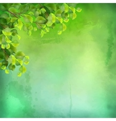 Watercolor Green Leaves Background vector image vector image