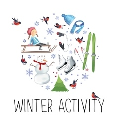 about winter outdoor vector image vector image