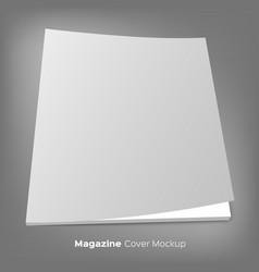 brochure or magazine mockup on gray vector image vector image