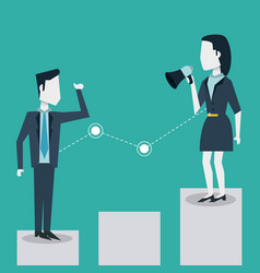 colorful background of business man and woman on vector image vector image