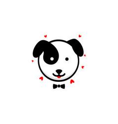 cute dog gentleman confesses his love vector image