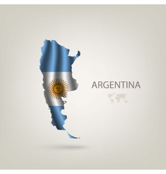 Flag of Argentina as a country vector image vector image