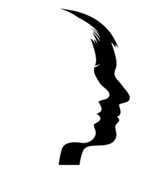 Man and woman s face vector image vector image
