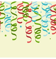 Party Streamers Pattern Background vector image