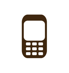 silhouette tech cellphone icon flat vector image