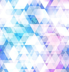 sky blue triangle seamless texture with grunge vector image