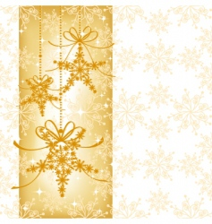 sparkling christmas background vector image vector image