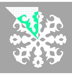 Stencil ornament for hand made snowflake vector image