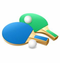 table tennis gear vector image vector image