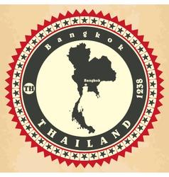 Vintage label-sticker cards of Thailand vector image
