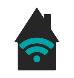 wifi house flat vector image