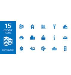 15 distribution icons vector