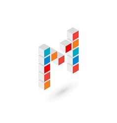 3d cube letter L logo icon design template vector