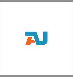 A j letter logo design on black color background vector
