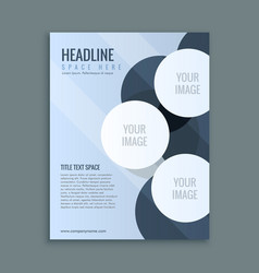 Abstract business brochure page layout vector